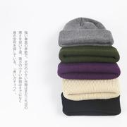 帽子女秋冬纯色毛线帽保暖百搭ins针织帽潮人冷帽学生瓜皮帽