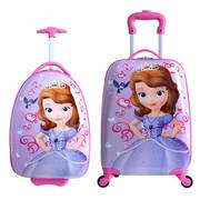 儿童拉杆箱18寸小猪卡通蛋壳书包佩奇16寸男女学生拖箱行李旅行箱