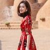 泰国沙滩裙海边度假裙巴厘岛民族风长裙波西米亚显瘦连衣裙夏