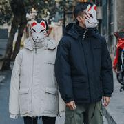 工装棉衣服男女2018冬季面包ins加厚外套连帽袄潮牌情侣短款