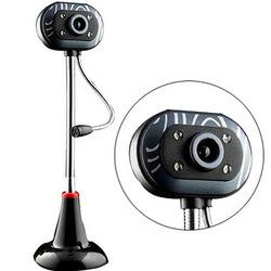 高清USB台式機電腦外置攝像頭帶麥克風話筒網吧夜視雨花石USB免驅