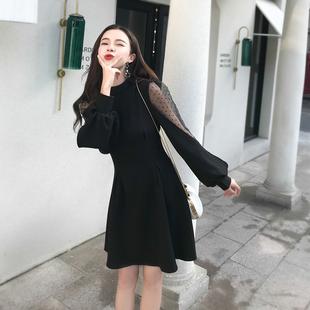 雪纺衫2018秋季女装长袖百搭T恤中长款时尚上衣打底衫潮