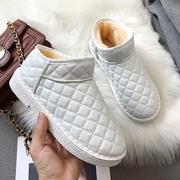 棉鞋女2018冬季平底雪地靴女加绒厚底短靴学生短筒女靴子