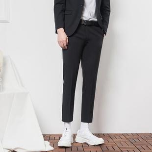 CSC冬季黑色九分西装裤男士商务潮流免烫加厚西服裤
