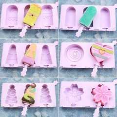 制作雪糕模具胚子冰棒盒冰格磨具冰模小雪人卡通成型个性家用制冰