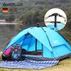 德国安戈洛帐篷户外3-4人 全自动双层防雨野营露营登山帐篷套餐