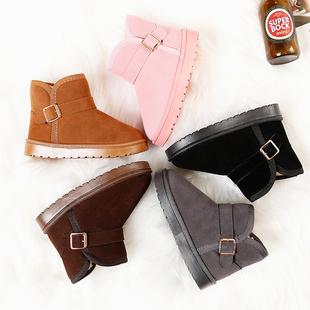 儿童雪地靴保暖棉鞋冬季加绒女童短靴男童宝宝防水靴鞋子