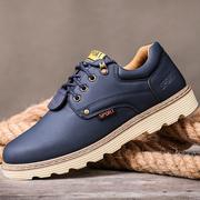 秋冬季加绒男鞋子防滑耐磨工装鞋男士防水工作鞋青年皮鞋鞋子