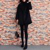 2018冬复古短款羊毛呢大衣女装大码宽松呢子大衣赫本黑色风衣