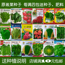 蔬菜种子套餐阳台种菜种四季易种水果菜籽萝卜冬春季香菜草莓玉米