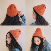 针织毛线帽子女秋冬季百搭冬天甜美可爱潮韩国ins男冷帽
