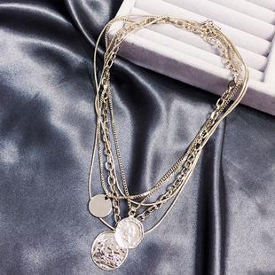 韩国欧美夜店风夸张复古三条一体式个性潮流网红链条女锁骨链