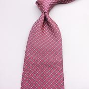意大利高大男士10cm宽版桃红色英伦风男士商务结婚真丝大领带