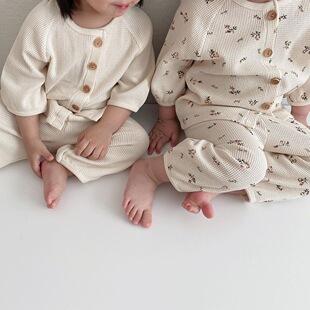 ins新生婴儿衣服春夏套装连体衣儿童空调家居服男女宝宝睡衣爬服
