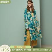 朵朵可可睡衣女款春夏纯棉长袖长款睡裙长裤春秋季两件套装家居服