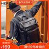 背包男双肩包时尚潮流简约学生书包大容量帆布户外旅行包