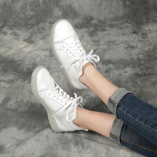 四起哥2019高端头层牛皮小白鞋高帮鞋手工真皮单鞋女鞋舒适文艺潮