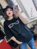 大码女装洋气爆闪亮晶晶上衣200斤胖MM个性潮眼镜短袖宽松T恤