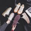 春款帆布鞋女学生港风小白鞋子女2019平底板鞋女百搭单鞋