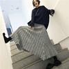 不规则手工剪毛拼接半身裙中长款秋冬慵懒百搭显瘦灰色洋气A字裙