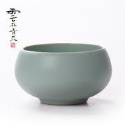 云在青天小品茗杯汝窑茶杯陶瓷功夫茶具龙泉青瓷个人单杯汝瓷杯子