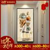 入户玄关装饰画竖版过道装饰壁画欧式挂画现代简约招财风水走廊画