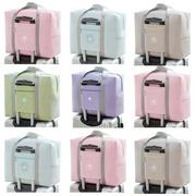 行李包包女短途旅行手提袋子装棉被收纳轻便大容量便携可套拉杆箱