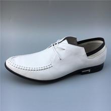 19公牛世家男鞋真皮头层牛皮小白鞋男士百搭系带皮鞋