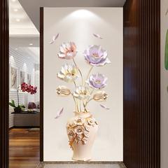 贴纸墙帖创意郁金香3D立体壁贴画卧室客厅墙面装饰品温馨自粘墙纸