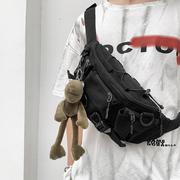 工装男潮牌斜挎包男士胸包个性多功能休闲ins腰包小挎包斜跨单肩