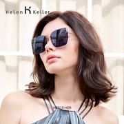 海伦凯勒韩版潮墨镜女小脸太阳镜女圆脸优雅偏光驾驶镜H8919