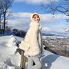 U.VN白色仿狐狸毛皮草外套女冬季毛绒皮毛一体中长款宽松毛毛大衣