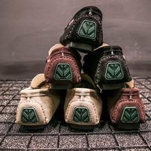 GGNBNB2019豆豆鞋男士青年懒人真皮鞋社会潮鞋夏季开车鞋