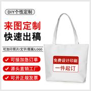 帆布袋定制帆布包空白diy布袋女手提棉布购物袋环保袋印logo
