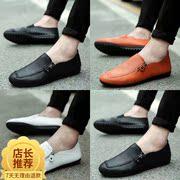 皮鞋布鞋高跟小男孩老年平跟男子帆布鞋平底伴郎个性日式软皮鞋底
