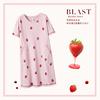 安之伴纯棉短袖中长睡裙女士夏季草莓甜美可爱睡衣可外穿家居服