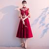 中式敬酒服新娘2020 显瘦小个子孕妇遮肚子红色结婚礼服女秋季
