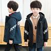 男童秋冬款儿童帅洋气加绒加厚外套2018中大童小男孩冲锋衣潮