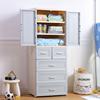双开门收纳柜儿童衣柜抽屉式宝宝储物柜塑料婴儿整理柜子简易衣橱