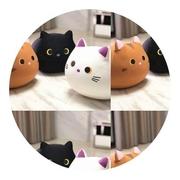 可爱黑小猫咪抱枕小花猫公仔泡沫粒子纳米软体毛绒玩具玩偶靠垫