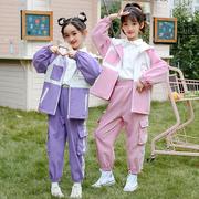 女童网红套装2021童装13洋气10岁女孩春秋季12儿童休闲两件套