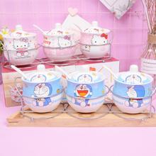 韩式陶瓷调味罐可爱调味盒瓶调料罐盒瓶盐罐三件套装厨房用品用具