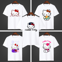 短袖女Hello Kitty夏季T恤日系凯蒂猫男女上衣短袖衫童装