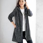 20年秋季日本女装带字母运动百搭时尚开襟连帽外套有大码M-5L