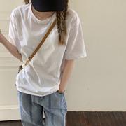 春秋纯棉短袖宽松长袖白色女T恤内搭打底衫女上衣春装2021年