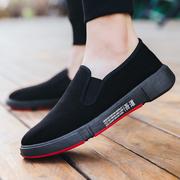 老北京布鞋男黑色相巾工作鞋防滑透气司机开车鞋一脚蹬懒人鞋子