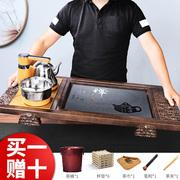 实木茶盘套装带电磁炉一体家用功夫茶台简约茶具客厅全自动茶海托