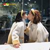 草莓南瓜亲子装2021春装韩版母女皮毛一体羊羔毛绒绒短款外套