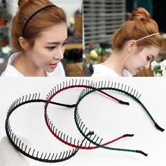 韩国带梳长齿防滑发箍头饰简约带齿头箍发卡化妆洗脸发窟发带潮女