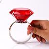 表白水晶大钻戒钻石大戒指情人节生日礼物求婚钻戒道具